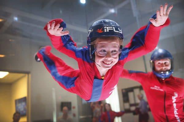 Indoor Skydiven Idee Kind