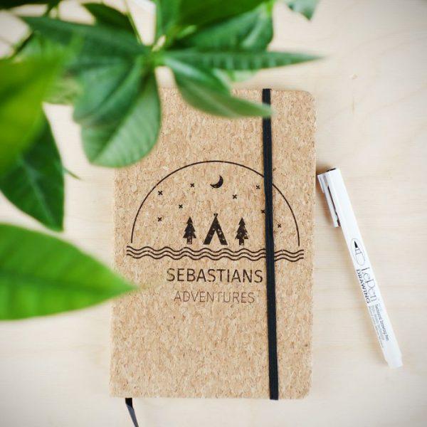 Persoonlijk kurken notitieboek