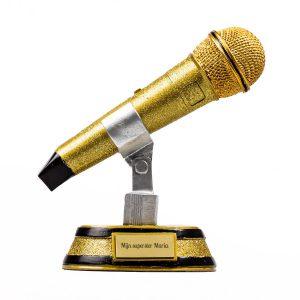 Gouden microfoon cadeau